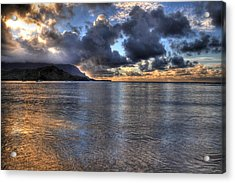 Hanalei Bay Hdr Acrylic Print by Kelly Wade
