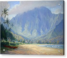 Hanalei Bay Morning Acrylic Print by Jenifer Prince