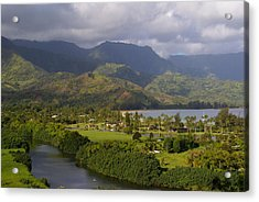 Hanalei Bay Morning Acrylic Print by Robert Lozen