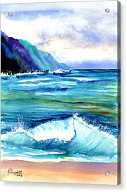 Hanalei Sea Acrylic Print