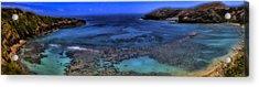 Acrylic Print featuring the photograph Hanauma Bay Panorama by Ellen Heaverlo