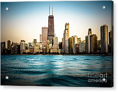 Hancock Building And Chicago Skyline Photo Acrylic Print by Paul Velgos