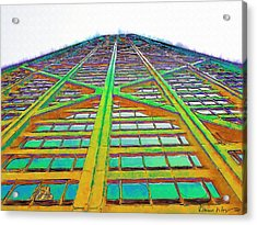 Hancock Chicago Acrylic Print by Russ Harris