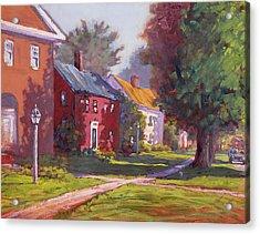 Hancock Village Scene Acrylic Print