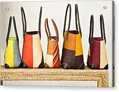 Hand Bags Capri Italy Acrylic Print by Xavier Cardell
