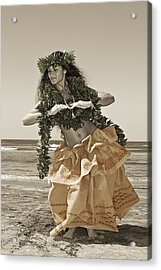 Hand Colored Hula Acrylic Print by Himani - Printscapes