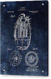 Hand Grenade Patent Drawing Acrylic Print