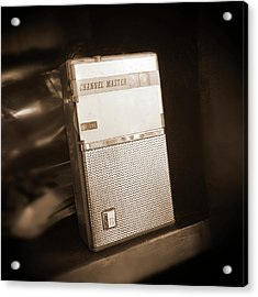 Hand Held Transistor Radio Acrylic Print by Mike McGlothlen