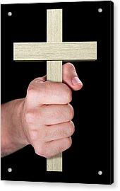 Hand Holding Crucifix Acrylic Print