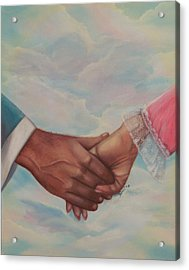 Hand In Hand Forever Acrylic Print