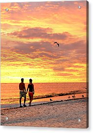 Hand In Hand Acrylic Print by Marty Koch
