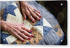 Hand Made Quilt Acrylic Print by Debra Baldwin
