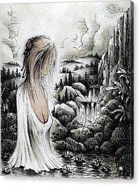Hand Maiden Of God Acrylic Print by Rachel Christine Nowicki
