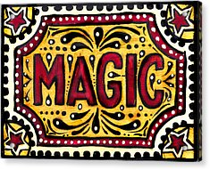 Acrylic Print featuring the painting Hand Painted Magic  by Nada Meeks