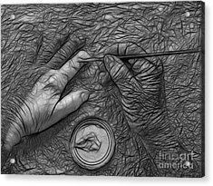 Hand Painting Acrylic Print by Trena Mara