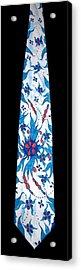 Hand Pinted Tie Acrylic Print