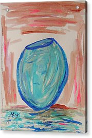 Hand Thrown Acrylic Print by Mary Carol Williams