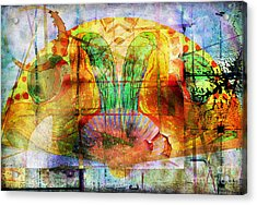 Handheld Fan Acrylic Print
