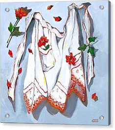 Acrylic Print featuring the painting Handkerchief Apron by Susan Thomas