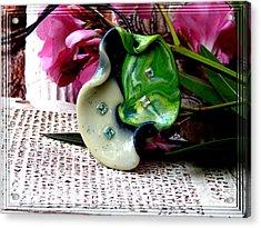 Handmade Art In Nature Acrylic Print by Chara Giakoumaki