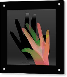 Hands In Pair Acrylic Print by Asok Mukhopadhyay