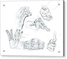 Hands Acrylic Print by Joseph  Arico