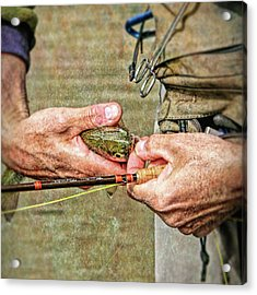 Hands Of A Fly Fisherman Acrylic Print