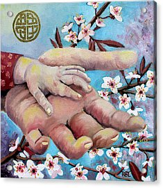 Hands Of Love Acrylic Print by Renee Thompson