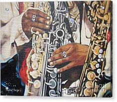 Blaa Kattproduksjoner        Hands Of Music - 2 Acrylic Print