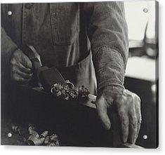 Hands Of Shaker Brother Ricardo Belden Acrylic Print by Everett