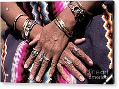Hands Of The Earth Acrylic Print by Linda  Parker