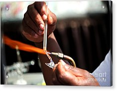 Hands Of The Glassblower Acrylic Print