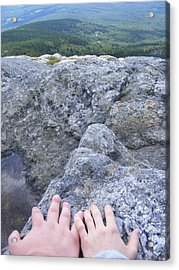 Hands On The Mountaintop Acrylic Print by Alison Heckard