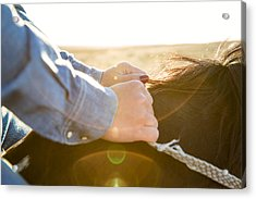 Hands On The Reins Acrylic Print