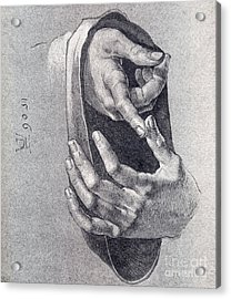 Hands  Study Acrylic Print by Pg Reproductions
