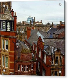 Hands Up Who Knows Which Uk City This Acrylic Print by Dante Harker