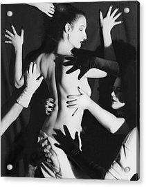 Hands Upon Me Acrylic Print by Jaeda DeWalt