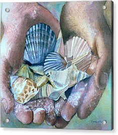 Hands With Shells Acrylic Print