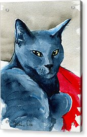 Handsome Russian Blue Cat Acrylic Print
