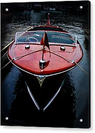 Handsome Wooden Boat Acrylic Print