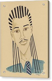 Handsome Young Man -- Stylized Portrait Of African-american Man Acrylic Print