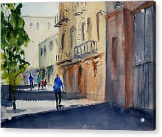 Hang Ah Alley Acrylic Print by Tom Simmons