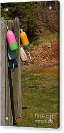 Acrylic Print featuring the photograph Hanging Buoys by Debbie Stahre