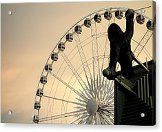 Acrylic Print featuring the photograph Hanging On The Wheel by Valentino Visentini