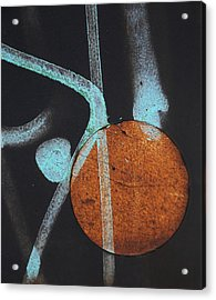 Hanging On Your Moon  Acrylic Print by Empty Wall
