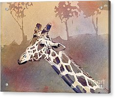 Acrylic Print featuring the painting Hanging Out- Giraffe by Ryan Fox