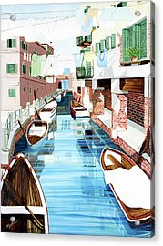 Hanging Out In Venice - Prints From My Original Oil Painting Acrylic Print