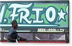 Acrylic Print featuring the photograph Hanging Out On Frio Street by Joe Jake Pratt