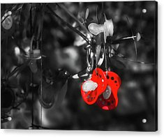Hanging Pacifiers Acrylic Print