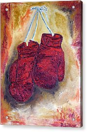 Hanging Up The Gloves Acrylic Print by Peter Silkov